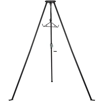 Rage Powersports 500 pound Capacity Tripod Game Hoist with Gambrel