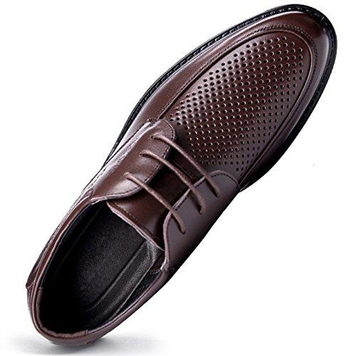 EU38 Pour D'affaires Cuir Chaussures 24CM Classique Robe Brown En Oxford Rond Formelles Chaussures Hommes Hommes Brogues Chaussures Bout Sandals Lacets Up6Bx7wqw