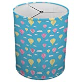 Hardback Linen Drum Cylinder Lamp Shade 8'' x 8'' x11'' Spider Construction [ Hot Air Balloons Seamless ]
