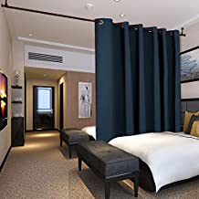 Deconovo Extra Wide Curtains Privacy Room Divider Curtain Thermal Insulated Blackout Curtains Room Darkening Panel for Sliding Door, 10ft Wide x 9ft Tall Navy Blue 1 Panel