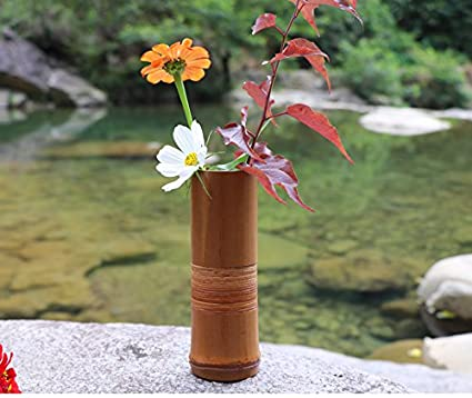 Amazon.com & 1PC Japanese Bamboo Flower Vase For Home Decoration Handmade Wedding Decoration Vase Gift Flower pots stands Home decor bottles wood
