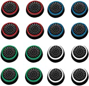 ArRord 8 Pair / 16 Pcs Replacement Wireless Controllers Silicone Analog Thumb Grip Stick Cover, Game Remote Jo