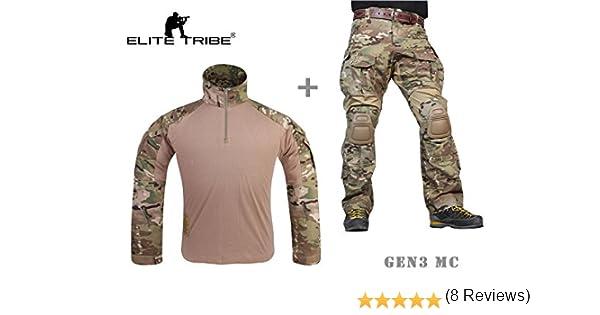 Paintball Equipment Hombres Airsoft Militar Combate BDU Uniforme Gen3 táctica Uniforme Multicam MC: Amazon.es: Deportes y aire libre
