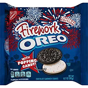 Oreo Firework with Popping Candy Chocolate Sandwich Cookies, 10.7 Ounce