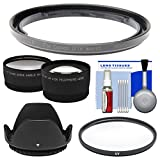 Bower FA-DC58E Conversion Adapter Ring for Canon PowerShot G1 X Mark II Camera (58mm) with Lens Hood + Tele/Wide Lenses + UV Filter + Accessory Kit