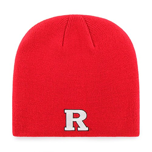 OTS NCAA Rutgers Scarlet Knights Beanie Knit Cap, Red, One Size