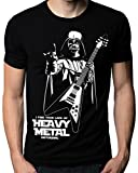 The Nakin Funny Star Wars I Find Your Lack Of Heavy Metal Flying V Guitar T-Shirt XX-Large Black