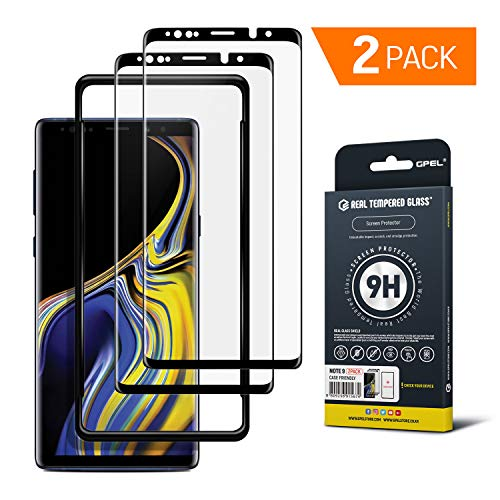 Galaxy Note 9 Screen Protector Tempered Glass w/Applicator [Case-Friendly] HD Clarity, Real Tempered Glass, 9H Hardness, Premium Japanese Asahi Glass by GPEL [2-Pack]