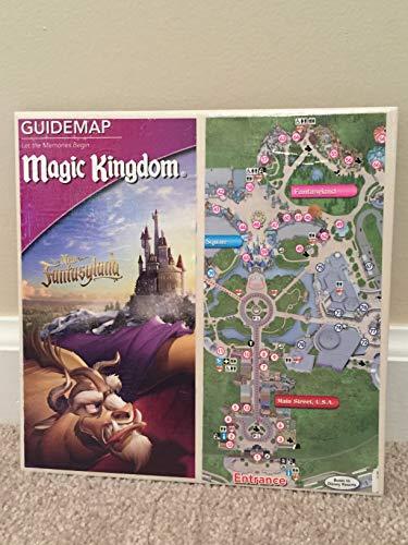 Walt Disney World Ceramic Park Map Trivet - Beauty and the Beast New Fantasyland at the Magic Kingdom