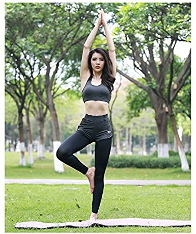 Amazon.com: fanceey 6pcs Yoga conjuntos mujeres gimnasio ...