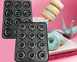 CHEFHUB Mini Donut Pan 12 Cavity Non-Stick, Dia=2'' Extra Thick Non-Stick Mini Donut Pan, Mini Donut Maker, Baking Doughnut pan, Cake Donut Maker, Doughnut Maker