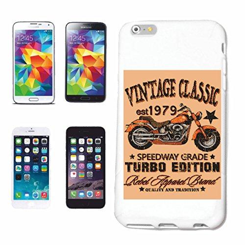 """cas de téléphone iPhone 7+ Plus """"SPEEDWAY GRADE TURBO EDITION VINTAGE CLASSIC Motard SHIRT CHOPPER MOTO GOTHIQUE SKULL MOTO CLUB BIKE ROUTE 66"""" Hard Case Cover Téléphone Covers Smart Cover pour Apple"""