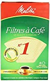 Melitta Cone Coffee Filters, Natural Brown, No. 1, 40-Count Filters (Pack of 8)