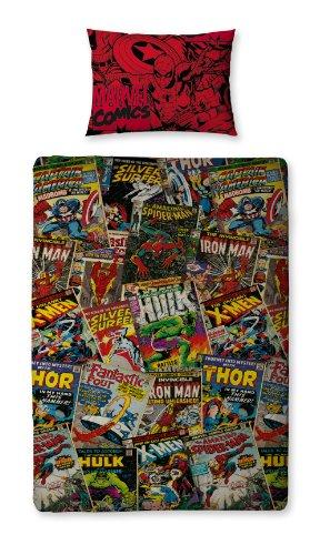 Marvel Comic Heroes Single Bed Duvet Cover Set