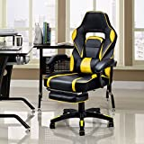 Giantex Gaming Chair Racing Chair Ergonomic High-Back with Footrest and Lumbar Support Adjusting Swivel Executive Office Desk Gaming Chair (Yellow) Review
