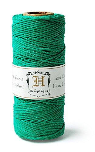 Hemptique HS20-GRN Hemp 20-Pound Cord Spool, Green, 205-Feet