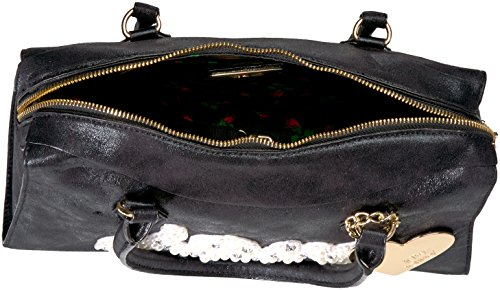 the Frill for Satchel Black Johnson Betsey It Just womens of XwqIcRxB
