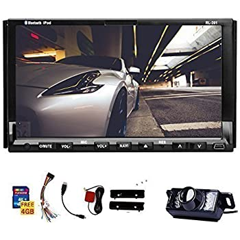 double din universal in dash hd touch screen car dvd player gps navigation stereo am. Black Bedroom Furniture Sets. Home Design Ideas