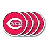 MLB Cincinnati Reds Vinyl Coaster Set (Pack of 4)