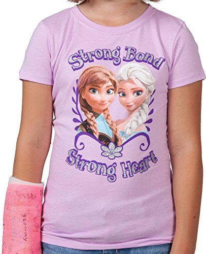 Disney's Frozen Youth Girl's Strong Bond T-Shirt - Purple (Lrg 12/14)