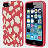 Kate Spade New York Cell Phone Flexible Hardshell Case for iPhone 5S Pink Leopard Print