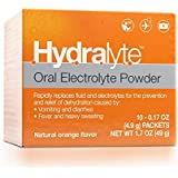 Hydralyte - Oral Electrolyte Powder On-the-go Clinical Hydration Formula for Hydralyte Drink (Orange 10 Count), Electrolyte Powder, Add to Water to Make an Oral Rehydration Solution