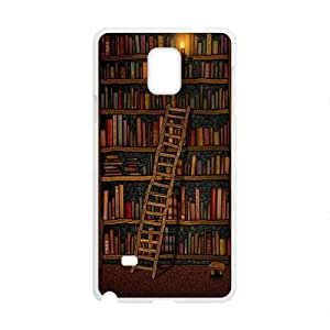 Light candle bookshelf with book Cell Phone Case for Samsung Galaxy Note4