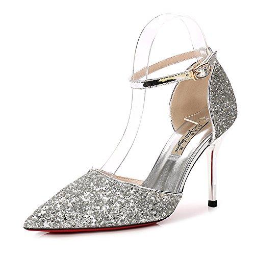 Pièce Shoeshaoge Chaussures Couleur Boucle De Épouse Avec OxxBwrtd