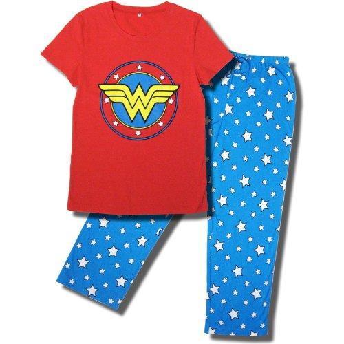 Wonder Woman Superhero Pajama Set for Women at Amazon Women's ...