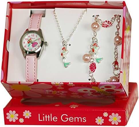 Ravel Little Gems Kids Mermaid Watch & Jewellery Gift Set For Girls R2223