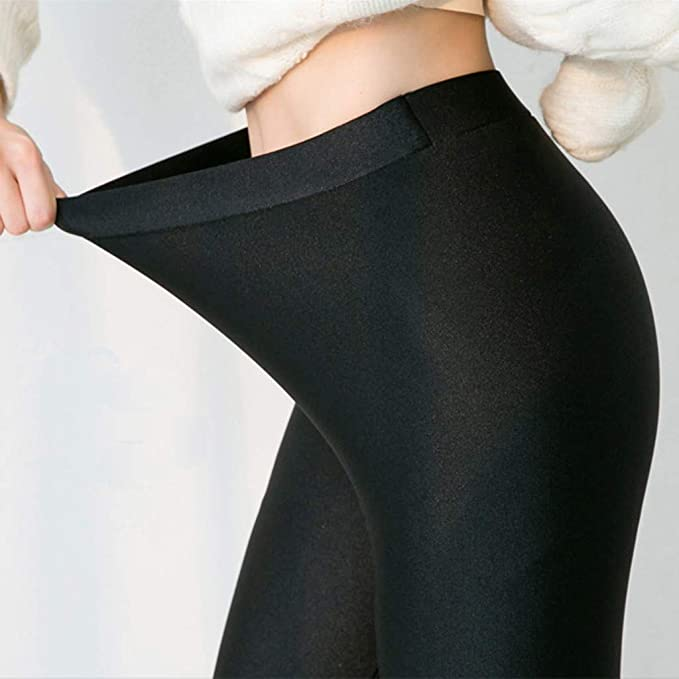 EDC Winter Leggings for Women Thermal Plus Size Crisscross Stirrup Tights Gym Yoga Workout Pants