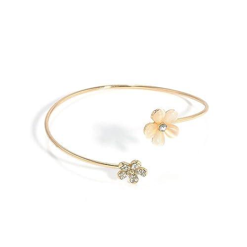 KAIKSO IN Schöne Frauen nette Schmucksache Gold füllte Herz Form Charme Armband