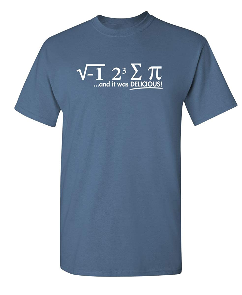 45fe81d72020 Amazon.com  I Ate Some Pi Day It was Delicious Math Sarcastic Humor Funny  Graphic T Shirt  Clothing