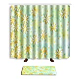 Bathroom Sets Shower Curtain Hooks Shower Rugs Polyester Fabric Marriage Gifts for Men and Women (eight)