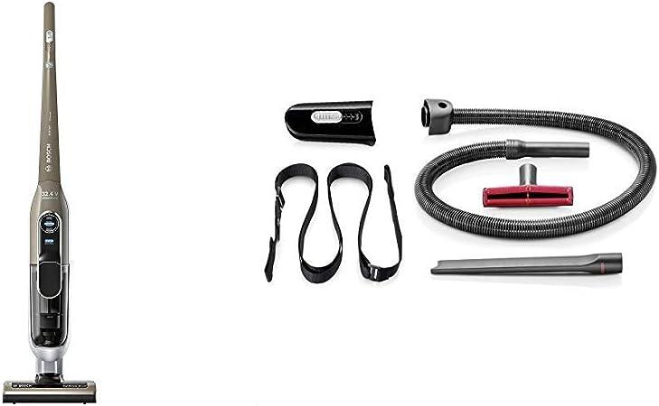 Bosch BBH73275 Athlet Ultimate - Aspirador escoba para viviendas grandes (autonomía hasta 75 minutos, SmartSensor Control + BHZPROKIT Kit de accesorios para aspiradora, 7800 W, Plástico, Negro: Amazon.es: Hogar