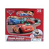 Disney Cars 25-Piece Floor Foam Puzzle Mat (2 Piece), red