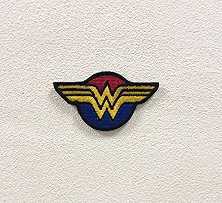 Wonder Woman DC Comics Logo Iron// Sew-on Embroidered Patch Jacket Badge