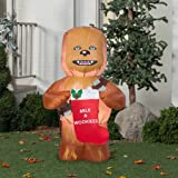 Gemmy Airblown Inflatables Christmas Inflatable Chewbacca with Stocking, 5 (1)
