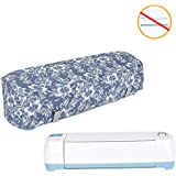 Luxja Dust Cover for Cricut Explore Air (Fits for Cricut Explore Air and Explore Air 2), Canvas Cover with Back Pockets for Cricut Machine, Flowers
