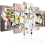 Large White Abstract Orchid Flower Canvas Wall Art Floral Print Painting Modern Decor Artwork for...
