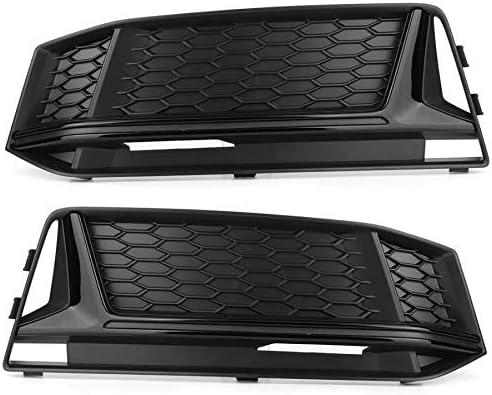 アウディA4 B9 2017 2018 2019車のフロントグリルのためのS4スタイルブラックカラーフィット用カーアクセサリーフォグランプグリルグリルカバーの修理の1ペア