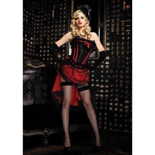(Leg Avenue Women's Scarlett Corset, Black/Red, Small)