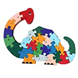 KEYNEW Creative Wooden Monsters Puzzle Educational Animal Toy Letter Number Color Recognition Game for Kids Toddlers Aged 3 and Up 26 pcs