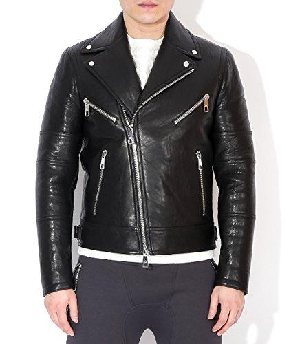 wiberlux-neil-barrett-mens-star-patch-detail-real-leather-moto-jacket-m-black