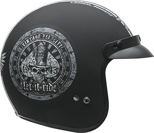 (Vega Helmets Unisex-Adult Open Face Motorcycle Helmet (Let it ride Graphic, X-Large))