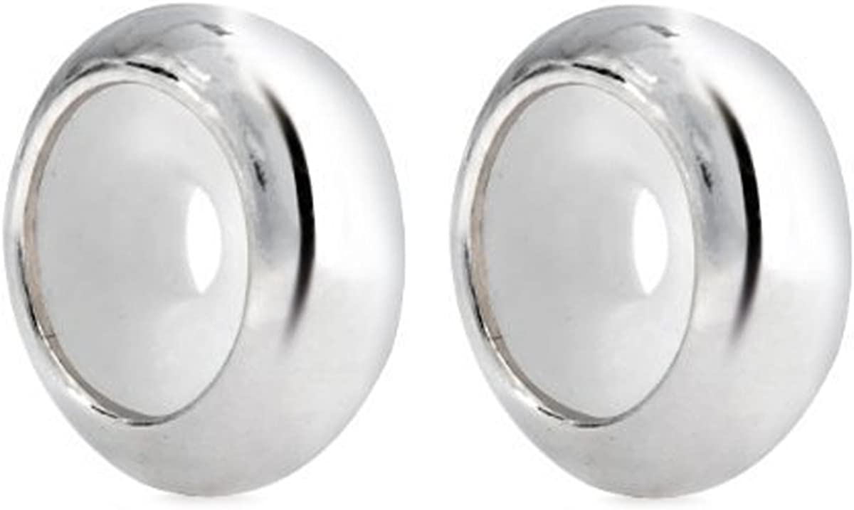 Queenberry Colgante redondo con tapón de perlas, 2piezas, de plata de ley 925 y caucho