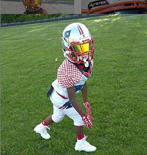 EliteTek COLOR Football Helmet Visor Universal Fit for Youth /& Adult Helmets!