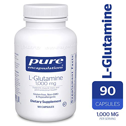 Pure Encapsulations - l-Glutamine 1000 mg - Hypoallergenic Supplement Supports Muscle Mass and Gastrointestinal Tract* - 90 Capsules ()