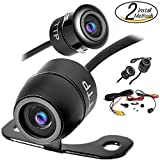 PRlME DAY SALE- Upgraded Mini Backup Camera 170° Viewing Angle Multi-Function Car Reversing Rear View/Side View/Front View & Security Pinhole Spy Camera (TTP-C12B)