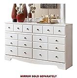 Weeki Contemporary Dresser in Modern White